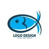 Projeto do logotipo dos peixes Foto de Stock