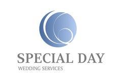 Projeto do logotipo dos serviços do casamento Imagem de Stock Royalty Free