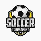 Projeto do logotipo do futebol Emblemas dos esportes Vetor ilustração stock