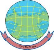 projeto do logotipo do mundo ilustração royalty free