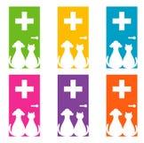 Projeto do logotipo para o veterinário Fotografia de Stock