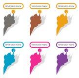 Projeto do logotipo para o veterinário Imagens de Stock