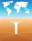 Projeto do mapa de mundo Imagens de Stock Royalty Free