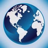 Projeto do mapa de mundo de Digitas. Fotos de Stock