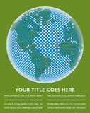 Projeto do mapa de mundo de Digitas. Foto de Stock