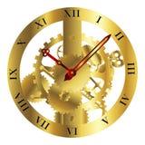 Projeto do maquinismo de relojoaria ilustração royalty free