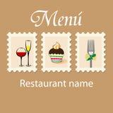 Projeto do menu Fotos de Stock Royalty Free