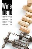 Projeto do menu da adega Imagens de Stock
