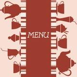 Projeto do menu do café Fotografia de Stock