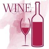 Projeto do menu do conceito do vidro de vinho Fotografia de Stock Royalty Free