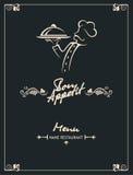 Projeto do menu do cozinheiro chefe Fotografia de Stock Royalty Free