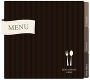 Projeto do menu do restaurante Fotografia de Stock Royalty Free