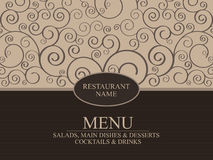 Projeto do menu do restaurante Foto de Stock Royalty Free
