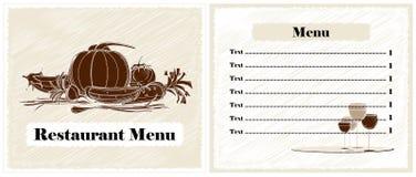 Projeto do menu do restaurante Fotos de Stock