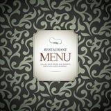 Projeto do menu do restaurante Imagens de Stock Royalty Free