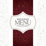 Projeto do menu do restaurante Fotos de Stock Royalty Free
