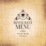 Projeto do menu do restaurante Fotos de Stock Royalty Free