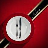 Projeto do menu do restaurante Fotografia de Stock Royalty Free