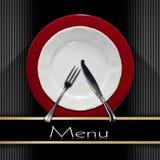 Projeto do menu do restaurante Foto de Stock