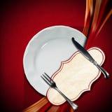 Projeto do menu do restaurante Foto de Stock Royalty Free