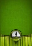 Projeto do menu do vegetariano Foto de Stock