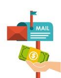 projeto do mercado do correio ilustração royalty free