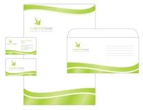 Projeto do molde com logotipo, espaço em branco, cartão de visita a Fotografia de Stock