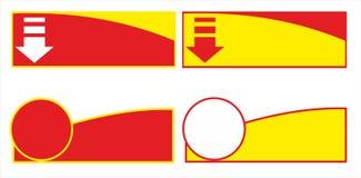 Projeto do molde da bandeira da venda, oferta especial da venda grande extremidade da bandeira da oferta especial da esta??o Ilus ilustração stock