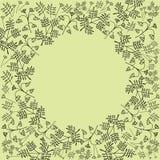 Projeto do molde da disposição com os ramos, arbustos, folhas, Imagem de Stock Royalty Free