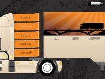 Projeto do molde da Web do transporte Imagem de Stock