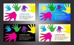 Projeto do molde do cartão das mãos Fotos de Stock