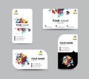 Projeto do molde do cartão do contato comercial Estoque do vetor Imagens de Stock Royalty Free