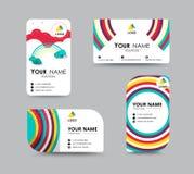 Projeto do molde do cartão do contato comercial Estoque do vetor Imagens de Stock