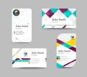 Projeto do molde do cartão do contato comercial Estoque do vetor Foto de Stock