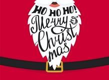 Projeto do molde do cartão do Feliz Natal ilustração do vetor