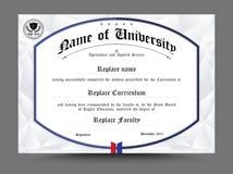 Projeto do molde do certificado do diploma Ilustração do vetor Foto de Stock Royalty Free