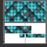 Projeto do molde do folheto Fotos de Stock