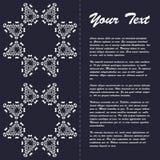 Projeto do molde do folheto do estilo do vintage com elementos e o ornamento orientais da arte moderna Fotos de Stock Royalty Free