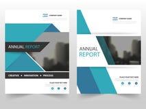 Projeto do molde do informe anual do inseto do folheto do folheto do negócio do preto azul, projeto da disposição da capa do livr ilustração stock