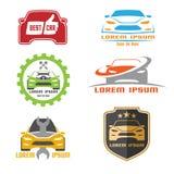 Projeto do molde do logotipo do carro ilustração stock