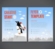 Projeto do molde do vetor, inseto, folheto, tampa, página Começo criativo e conceito criativo da ideia ilustração stock