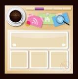 Projeto do molde do Web site Imagens de Stock Royalty Free