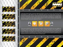 Projeto do molde do Web site da cerca de fio ilustração stock