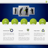 Projeto do molde do Web site do neg?cio Fotografia de Stock Royalty Free