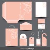Projeto do molde dos artigos de papelaria Imagens de Stock