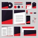 Projeto do molde dos artigos de papelaria do vetor com forma e seta do polígono Imagem de Stock Royalty Free