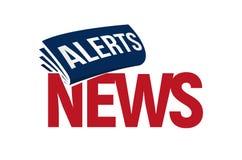 Projeto do molde do título do boletim de notícias Logotipo de Unusuaul para a publicação do jornal Logotipo dos alertas das notíc ilustração royalty free