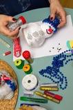 Projeto do ofício do boneco de neve Fotografia de Stock