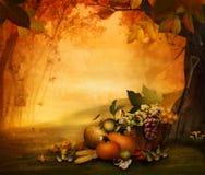 Projeto do outono - fruta da estação ilustração stock