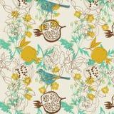 Projeto do pássaro e da fruta Imagens de Stock Royalty Free